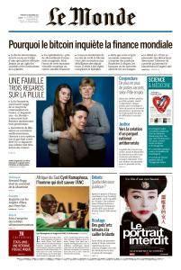 Le Monde du Mercredi 20 Décembre 2017