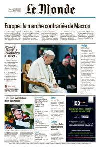 Le Monde du Mardi 28 Août 2018