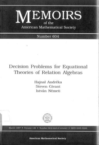 Decision Problems for Equational Theories of Relation Algebras