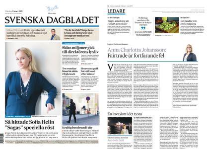 Svenska Dagbladet – 11 mars 2019