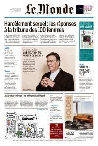 Le Monde du Vendredi 12 Janvier 2018