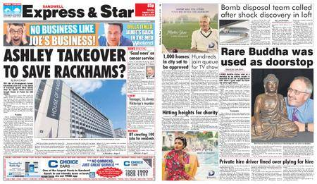 Express and Star Sandwell Edition – August 11, 2018