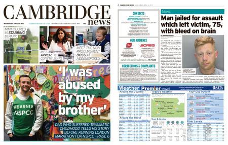 Cambridge News – April 24, 2019