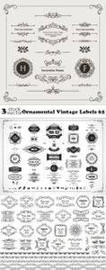 Vectors - Ornamental Vintage Labels 62