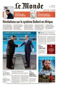 Le Monde du Samedi 28 Avril 2018