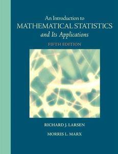 An Introduction to Mathematical Statistics and Its Applications (5th edition) (Repost)