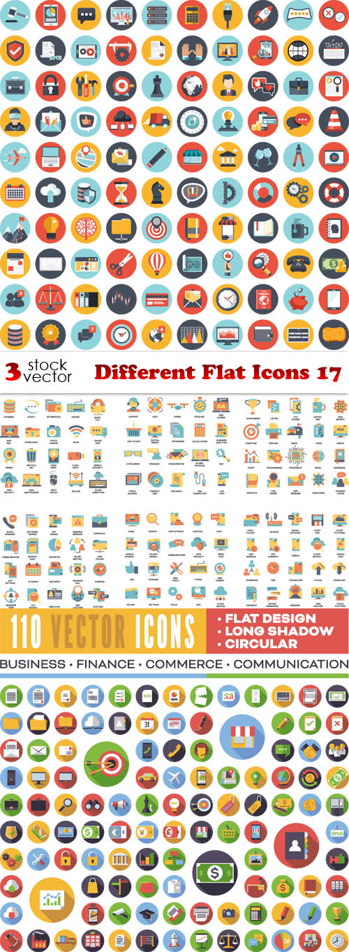 Vectors - Different Flat Icons 17