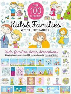 CreativeMarket - Kids and Families vector art