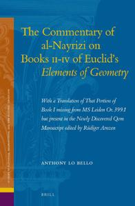 The Commentary of al-Nayrizi on Books II-IV of Euclid's