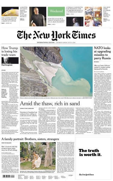 International New York Times - 6-7 July 2019