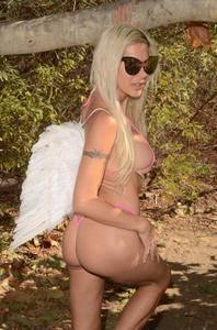 Angelique Morgan - angel for Halloween,Malibu October 29 2017