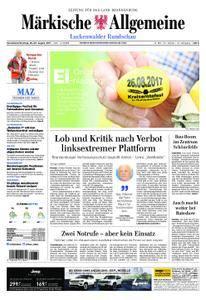 Märkische Allgemeine Luckenwalder Rundschau - 26. August 2017