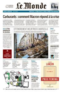 Le Monde du Mercredi 7 Novembre 2018