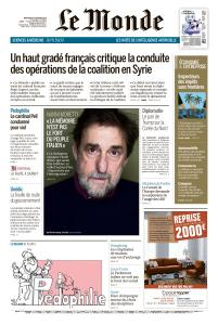 Le Monde du Mercredi 27 Février 2019