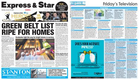 Express and Star Sandwell Edition – January 18, 2020
