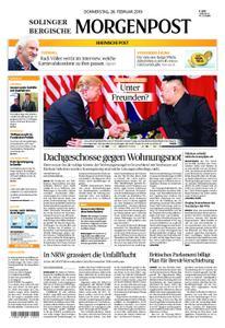 Solinger Morgenpost – 28. Februar 2019