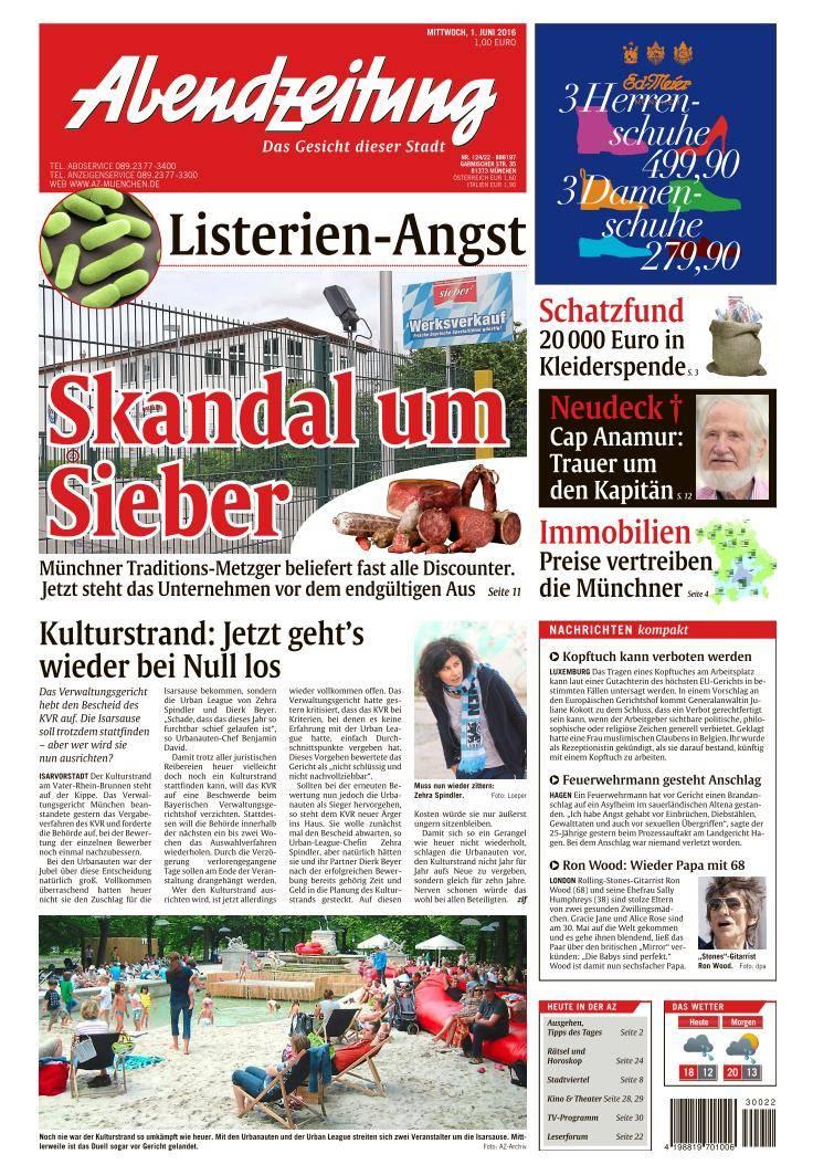 Abendzeitung München - 1 Juni 2016