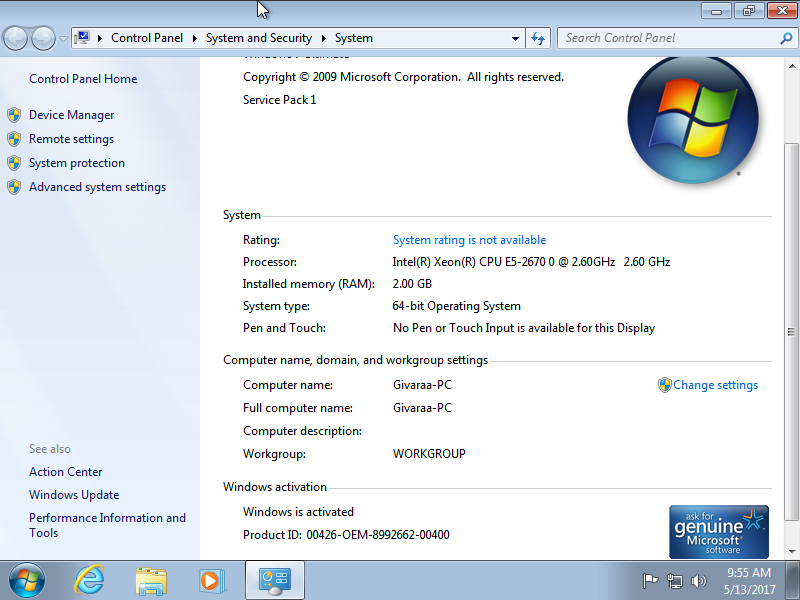 activation windows 7 ultimate sp1