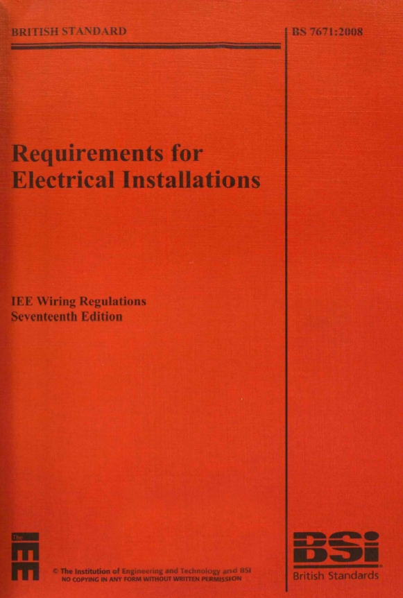 Requirements For Electrical Installations  Iee Wiring