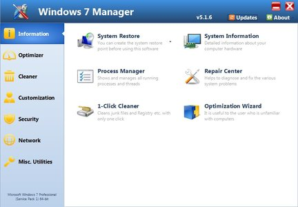 Windows 7 Manager 5.1.9 DC 10.10.2016