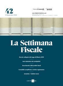 Il Sole 24 Ore La Settimana Fiscale - 9 Novembre 2018
