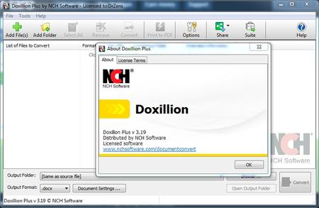 NCH Doxillion Document Converter Plus 3.19