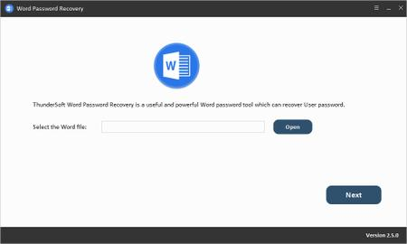 ThunderSoft Word Password Recovery 2.5.0
