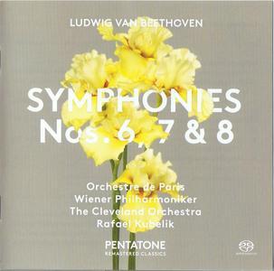 Rafael Kubelik, Paris & Vienna & Cleveland SO - Beethoven: Symphonies 6, 7 & 8 (1973-75) [Reissue 2017] SACD ISO + Hi-Res FLAC