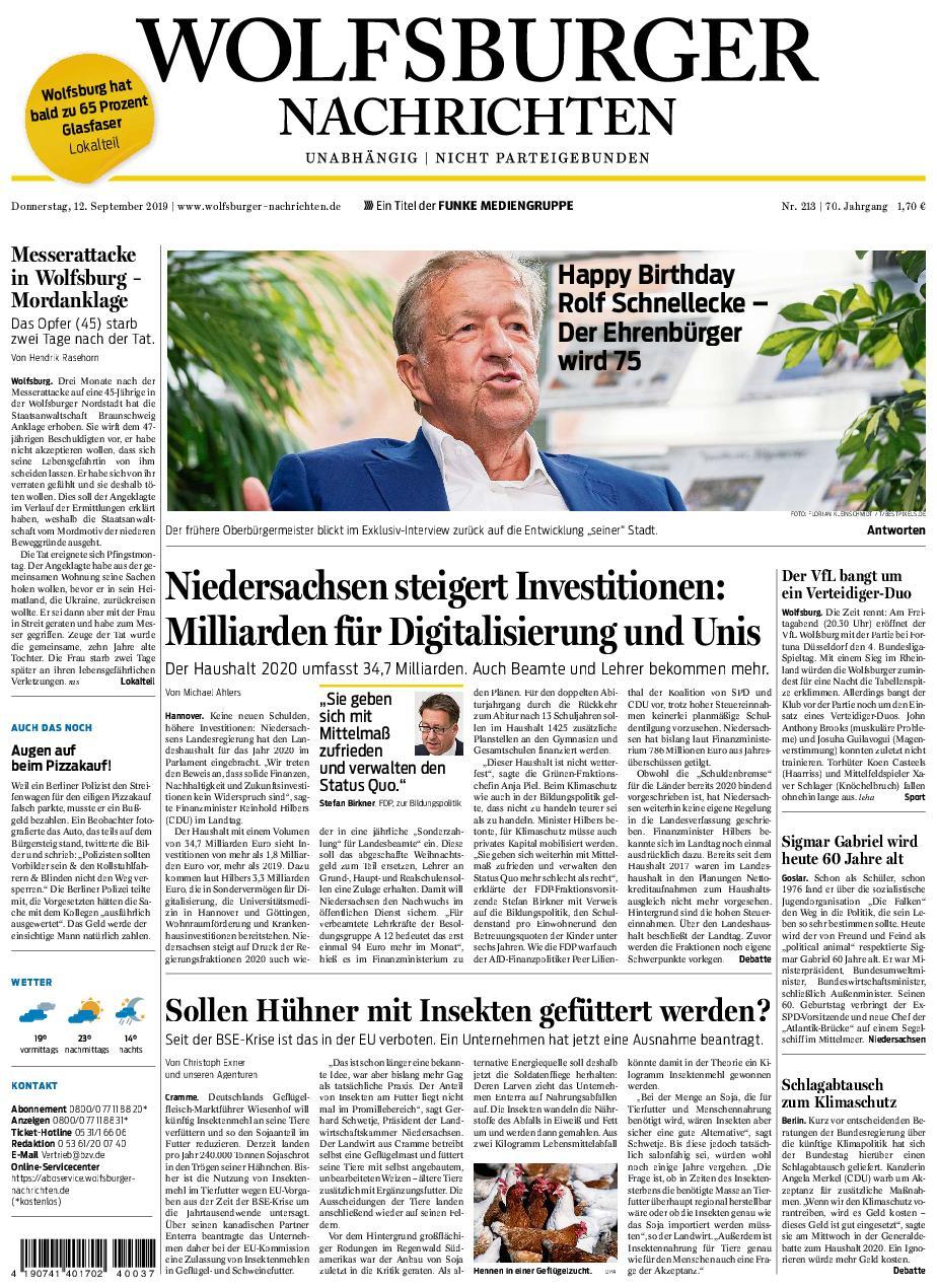 Wolfsburger Nachrichten - Unabhängig - Night Parteigebunden - 12. September 2019
