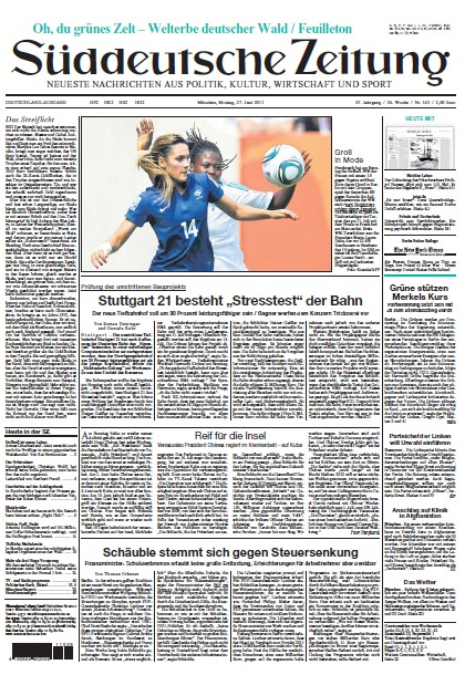 Süddeutsche Zeitung vom 27 Juni 2011