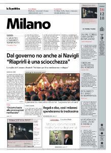 la Repubblica Milano - 16 Dicembre 2018