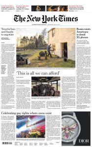 International New York Times - 15 May 2019