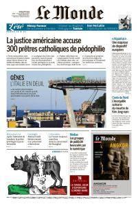 Le Monde du Jeudi 16 Août 2018