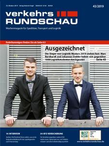 VerkehrsRundschau - 22. Oktober 2019