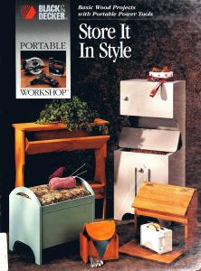 Store It in Style: Basic Wood Projects With Portable Power Tools (Black & Decker)
