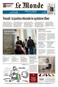Le Monde du Vendredi 6 Mars 2020