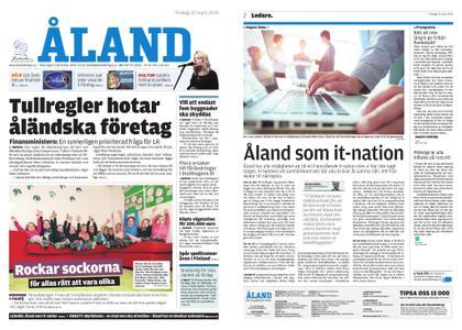 Ålandstidningen – 22 mars 2019