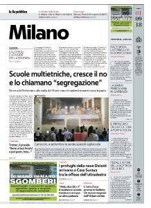 la Repubblica Milano - 1 Settembre 2018
