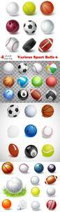Vectors - Various Sport Balls 6