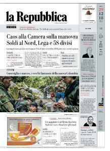 la Repubblica - 29 Dicembre 2018