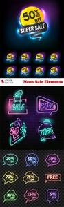Vectors - Neon Sale Elements