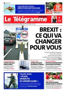 Le Télégramme Brest Abers Iroise – 13 décembre 2020
