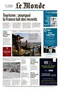 Le Monde du Dimanche 26 et Lundi 27 Août 2018