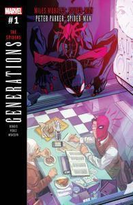 Generations Miles Morales Spider Man  Peter Parker Spider Man 001 2017 Digital Zone Empire