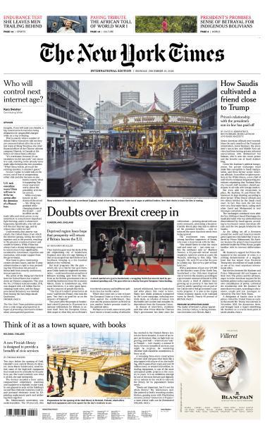 International New York Times - 10 December 2018