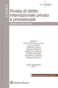 Rivista di diritto internazionale privato e processuale - Luglio-Settembre 2017