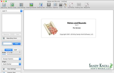 Sandy Knoll Software Metes and Bounds Pro 5.4.2 macOS