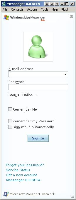 MSN Messenger ver. 8.0.0.566