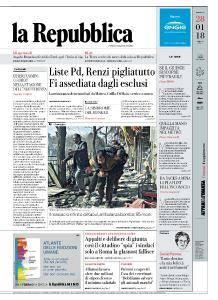 la Repubblica - 28 Gennaio 2018