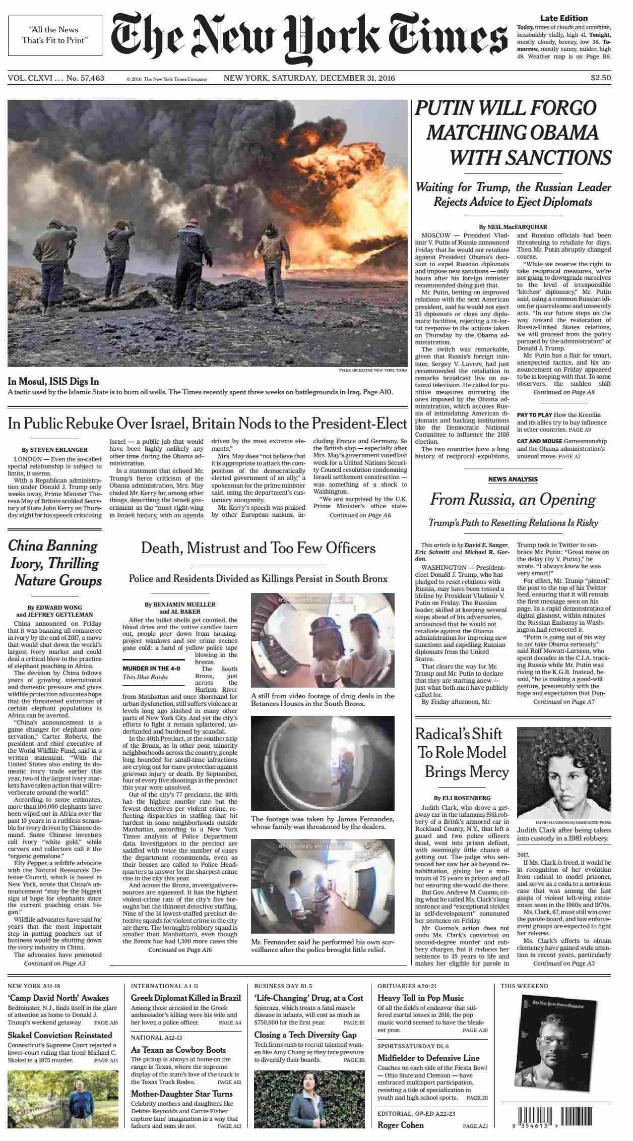The New York Times  December 31 2016
